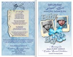 baby funeral program baby funeral programs for bereaved families washington news world
