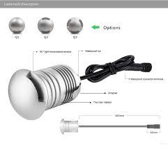 ip67 3w 12v 24v led underground light outdoor landscape lighting