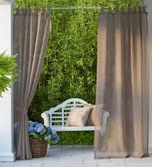 Covered Patio Curtains by Sunspun Tab Top Outdoor Curtains Hang These Indoor Outdoor Semi