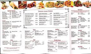 menu sea by the city