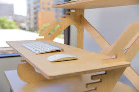 Computer Desk With Adjustable Keyboard Tray American White Oak Wood Standing Desk With Adjustable Keyboard