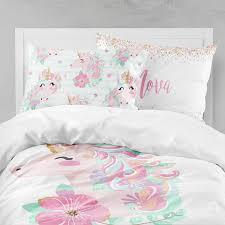 Unicorn Bed Set Unicorn Room Unicorn Bedding Toddler Duvet