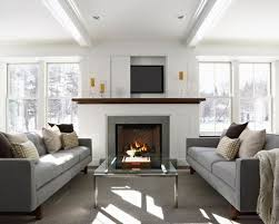 where to place tv in living room with fireplace sofa facing each other living room ideas photos houzz