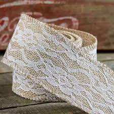 burlap and lace ribbon burlap and lace ribbon ribbon and trims craft supplies