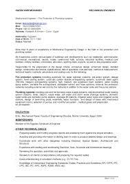 Resume For Mechanical Engineer Mechanical Engineer Plumbing And Fire Fighting