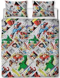 West Ham Double Duvet Cover Marvel Comics Retro Double Rotary Duvet Cover Set U2013 Characterlinens