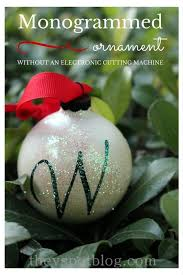 make a monogrammed ornament the fashioned way without an