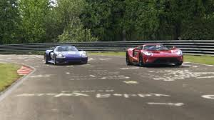 ford gt vs lamborghini murcielago battle porsche 918 spyder vs ford gt 2017 at nurburgring