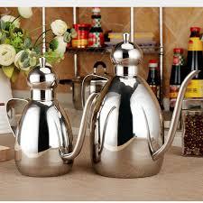 fourniture de cuisine acier inoxydable étanche graisseur pot de sauce de soja bouteille d