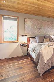 Bedrooms With Wood Floors by Stunning Contemporary Home With Wide Plank Black Walnut Floor