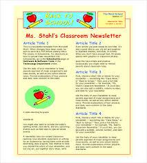 classroom newsletter template u2013 9 free word pdf documents