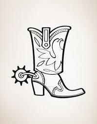 vinyl wall decal sticker cowboy boots os aa349