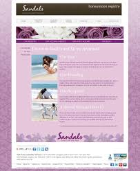 registry wedding website wedding websites with weddingmoons sandals wedding