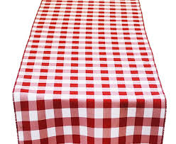 red and white table runner red and white check table runner
