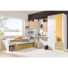 ensemble de chambre ensemble chambre enfant lit armoire avec miroir 2 tiroirs