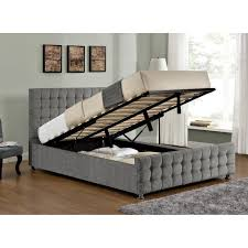 Ottoman Beds For Sale Baratheon Silver Chenille Ottoman Bed Next Day Delivery