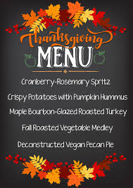 thanksgiving menu maple bourbon glazed roasted turkey and more