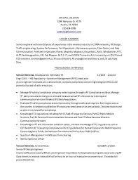 Verizon Resume Rf Engineer Resume Sample Top 8 Rf Engineer Resume Samples Top 8