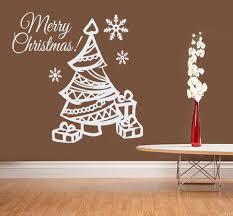 Quotes Christmas Tree Christmas Gifts With Cute Christmas Tree Wall Sticker Vinyl Merry