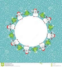 snowman christmas card template stock illustration image 47120616