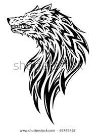 wolf tribaltattoo style stock vector 49749457 shutterstock