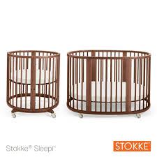 Baby Crib Round by Stokke Sleepi System 1 Convertible Round Crib Walnut Babies