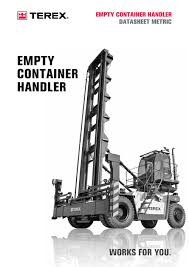 empty container handlers terex pdf catalogues documentation