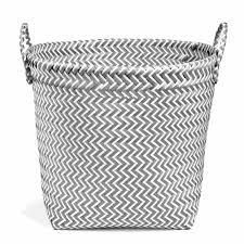 vintage plastic wicker basket h 30 cm maisons du monde