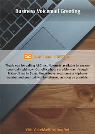 business voicemail greeting examples
