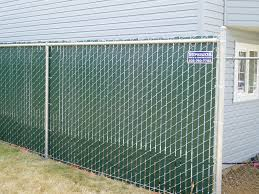 chain link with brown privacy slats for side of backyard for my