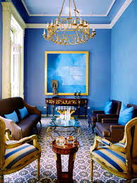 bedroom sweet blue cream wall room fireplace combined brown