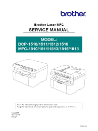brother dcp 1510 mfc 1810 series service manual image scanner
