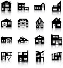 different house types 16 silhouettes of different types of houses royalty free cliparts