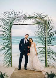 wedding arch leaves 28 edgy tropical leaf wedding ideas weddingomania