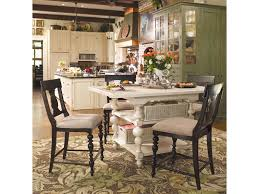 counter height gathering table paula deen by universal home gathering table set w 4 counter height