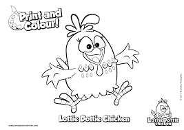 coloring pages lottie dottie chicken official website