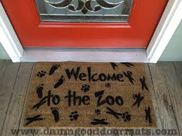 Wipe Your Paws Footprint Doormat Welcome To The Zoo Expansion Damn Good Doormats
