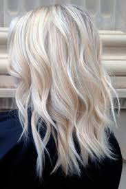 shades of high lights and low lights on layered shaggy medium length summer blonde platinum blonde with fine ash blond highlights and
