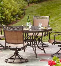 elegant 5 piece patio dining set with swivel chairs hampton bay