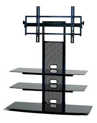 minimalist black flat screen tv stand with mount and storage