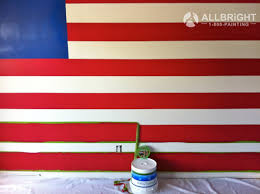 Painting A Flag American Flag Painted Mural A Allbright Painting Allbright 1