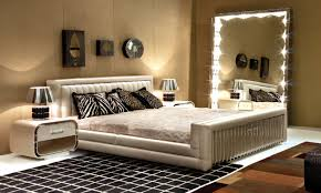 nice mirrors wall bedroom with led lighting fantastic mirrors wall