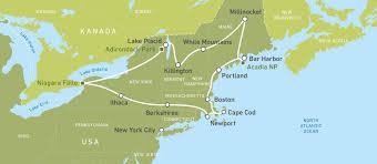 Ithaca Map Autoreise Durch Neuengland Bis Zu Den Niagarafällen Canusa
