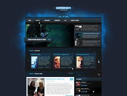 gaming design 28 amazing psd magazine website templates web graphic design