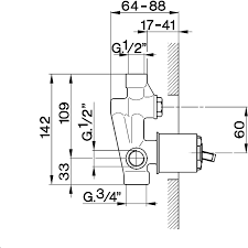 huber zb002210 concealed single lever bath shower valve
