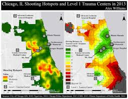 City Of Chicago Map by November 2014 Shooting Hotspots And Relative Distances To Level 1