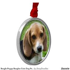 Cute Dog Products by Beagle Puppy Beagles Cute Dog Products Ornament Aa Byvr Fview