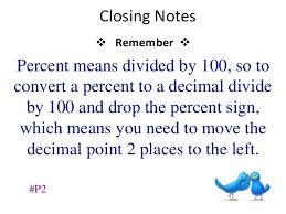 percent to decimal converting decimals and percents