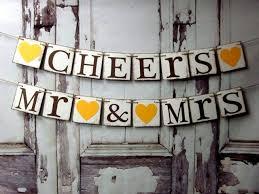 Sweetheart Table Decorations Wedding Decorations Wedding Banners Cheers Mr U0026 Mrs Sweetheart