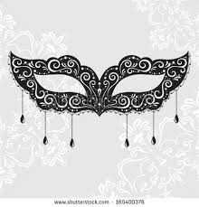 beautiful black lace masquerade mask isolated stock vector